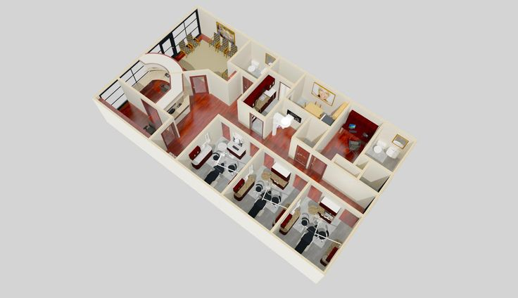 7 best images about 3d dental office endodontist on for Dental office design 1500 square feet