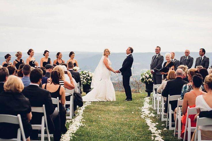 The ceremony... #ivyandmoss #thebluemountains #beautiful #whitewedding #classicwedding #white #flowers #wedding