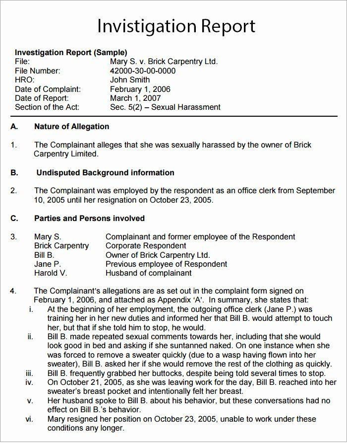 Human Resources Investigation Report Template Awesome Workplace Investigation Report Template 7 F In 2021 Report Template Rhetorical Analysis Essay Rhetorical Analysis