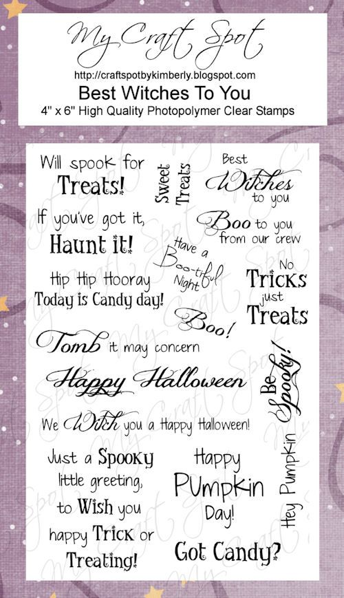 Best Witches To You Stamp Set
