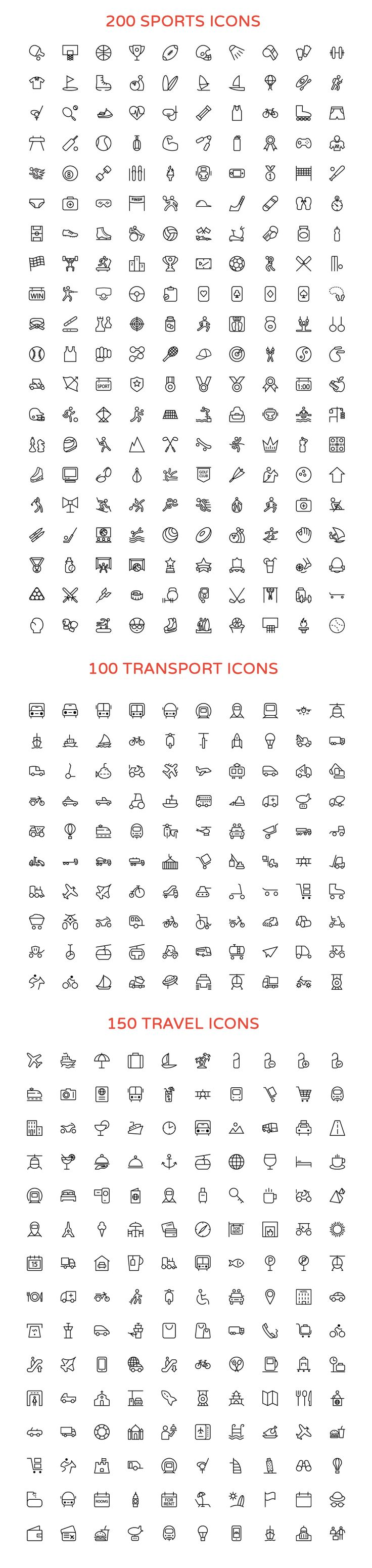 Here is a collection of some perfectly lined 2800+ Vector Icons in an all-inclusive bundle #design Download: https://creativemarket.com/creativestall/176209-2800-Line-Vector-Icons-Bundle?u=ksioks