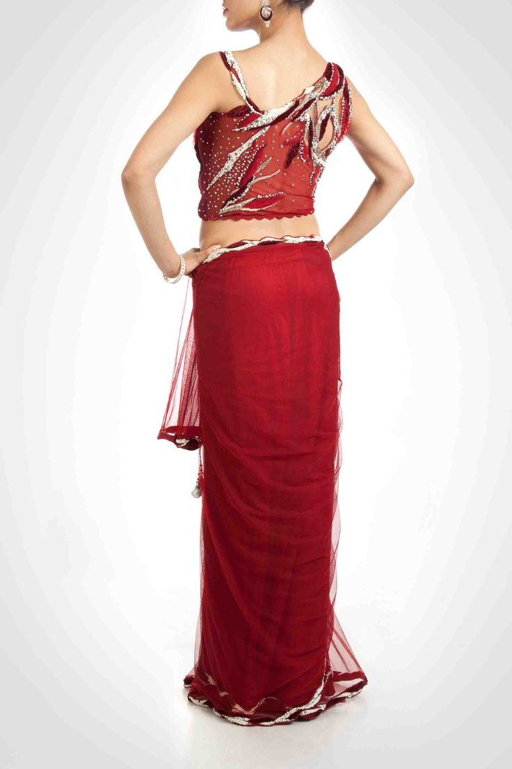 Lehenga Sari With Beads And Crystal Work .Available At www.ladyselection.com