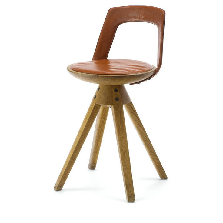 Stool With Back Rest By Tove Amp Edvard Kindt Larsen For