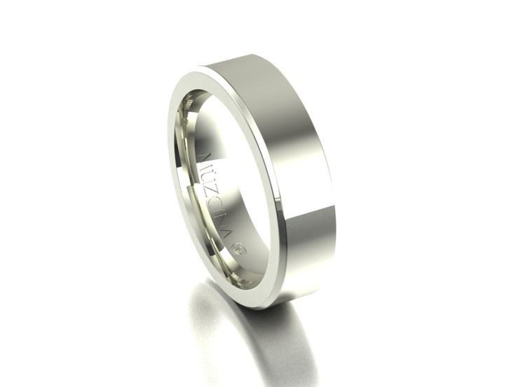 MÜZCINA Collection by JJBückar - BX30-H-100-X-XX-XX-18W-PX, High Polished Finish, 18K White Gold, Men's, Wedding Rings, Wedding Bands, Designer, Luxury, Deluxe, Unique, Modern, Custom, Precision Machined