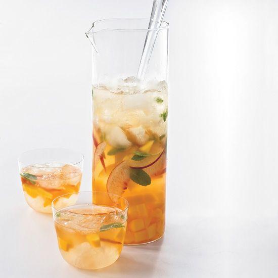 Mango-Peach Sangria // More Great Sangrias: http://www.foodandwine.com/slideshows/sangria #foodandwine #fwpinandwin