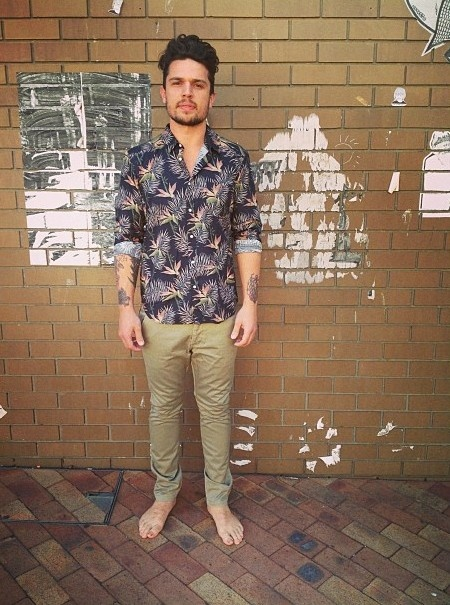 Barefoot Bandit. #assembly #shirt #vintage #chinos #print #palmtrees #mensfashion #hermanstore