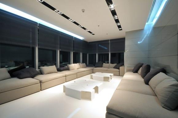 Proyecto Áreas Lounge, sofas y mesas de centro de MDF Italia. Mobiliario de diseño para oficinas, restauración, hoteles y contract. (Espacio Aretha agente exclusivo para España)