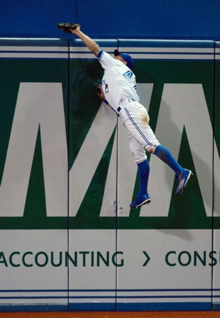 Kevin Pillar, CF, Toronto Blue Jays ❤️ Who was it that said white men can't jump? #GoBluejays #WorldSeriesHereWeCome