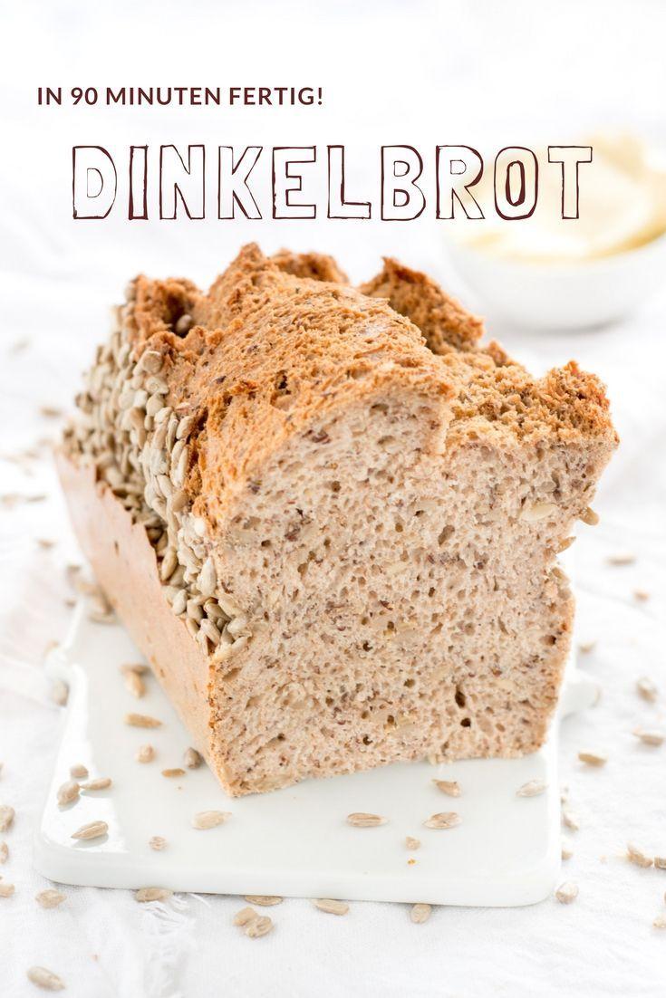 Brot Rezepte - Ganz einfach und schnell ist dieses Dinkelbrot in 90 Minuten zubereitet. Rezept vom foodlbog herzelieb #foodblogger #deutsch #deutschland #germany