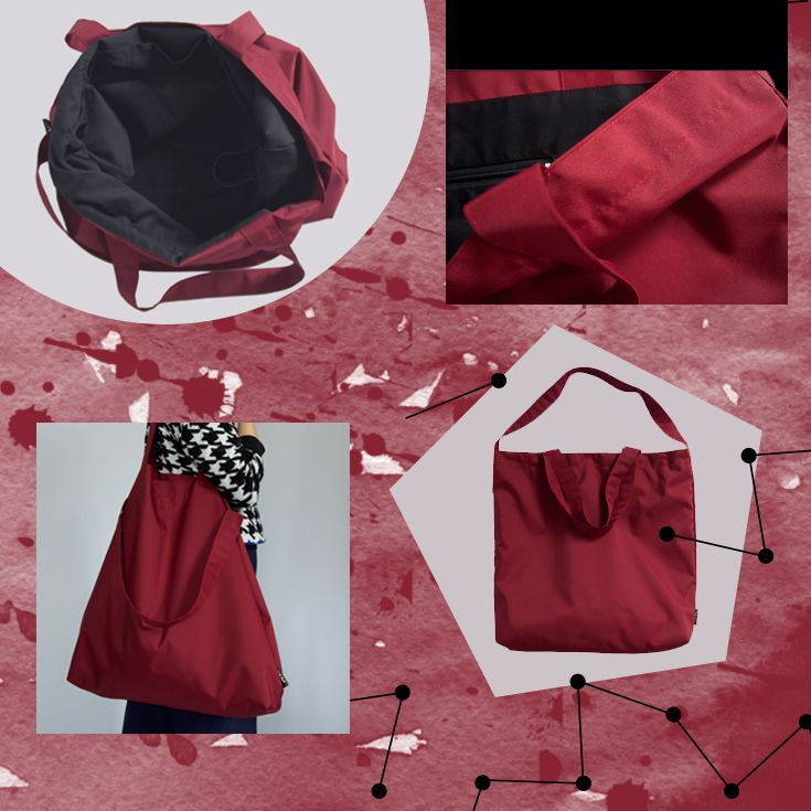 Sold and Relisted!! Red Dark oversized bags tote