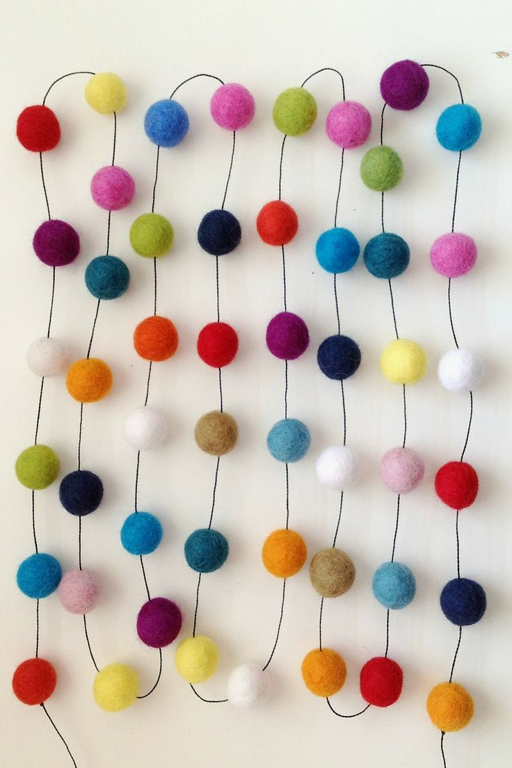 Felt Foxes Party Garland available at Superette #superettestore #garland