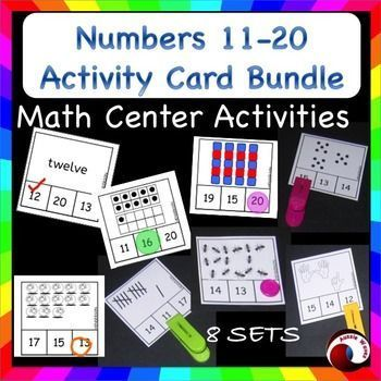 This is the NEW bundle of my number cards. teaching COUNTING numbers 11-20 for Math Center activities.There are now 8 Sets in all! 288 activity cards!These activities involve recognizing dots, tally marks, blocks, words. counting ants and sheep, finger co
