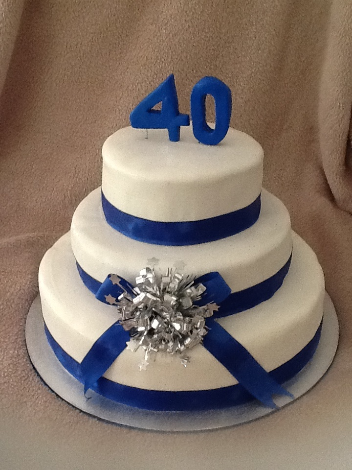Simply cake with ribbon also great for wedding :)