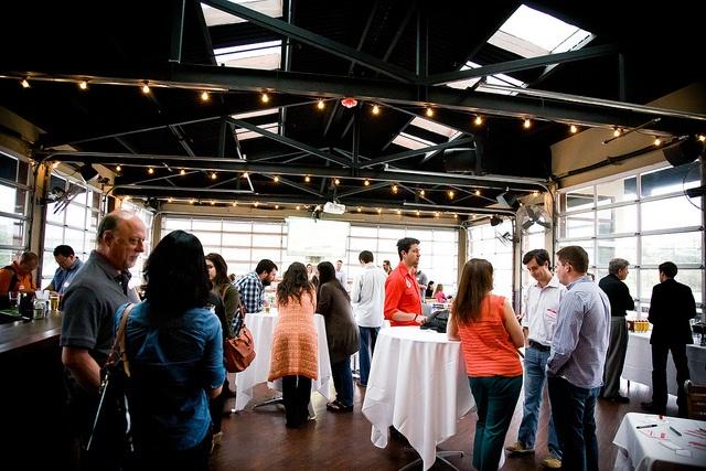 Upper Deck Social Panel mingling.Panels Mingle, Upper Decks, Decks Social, Social Panels
