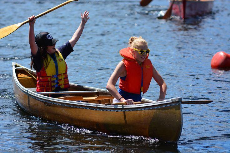 Canoe races at the Kearney Regatta in the Almaguin Highlands