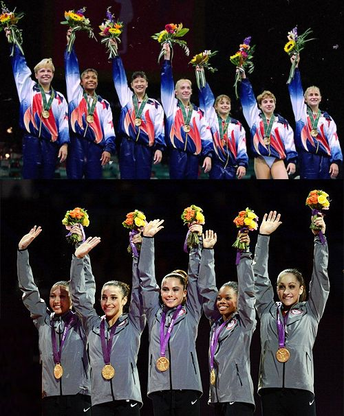 birdwings:    andrainstorm:    The two gold teams:  Magnificent Seven (1996)  Fab Five (2012)
