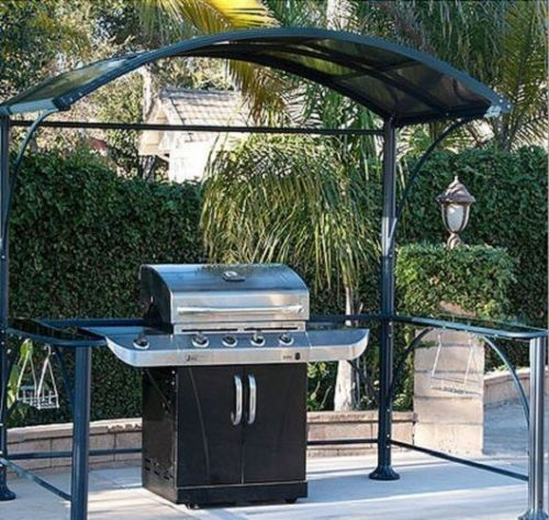Barbecue grill cover gazebo kits outdoor patio furniture for Garden decking with gazebo