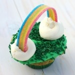 Lucky rainbow cupcakes for St. Patrick's Day