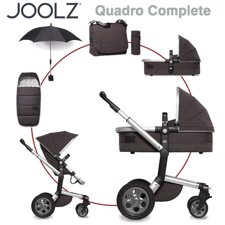 Joolz Day Quadro Complete Set XL - CARBON - 2016