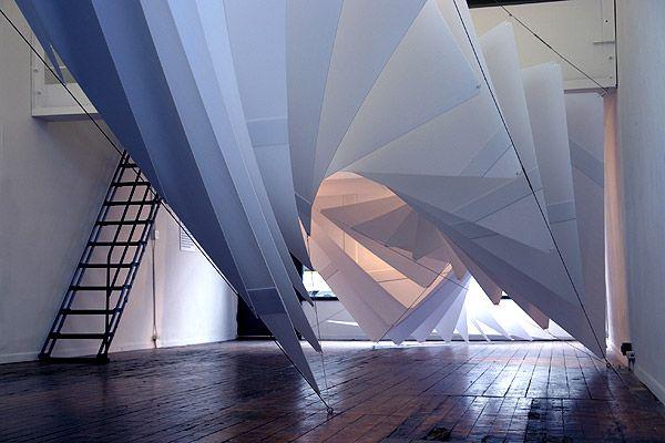 Installation with work by Plasma Studio.
