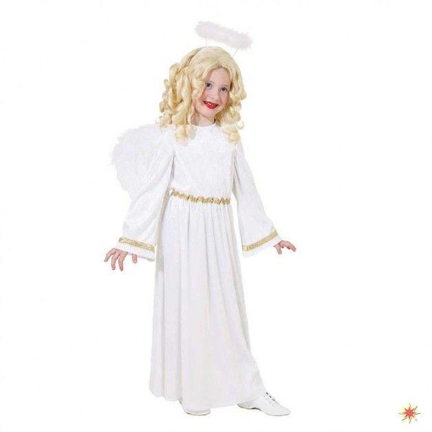 Kostüm Engel Gr. 128 - 164 Mädchen Kleid weiß