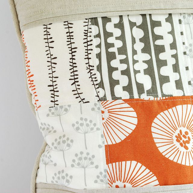 echo and linen cushion detail by sewquine@theochiltree, via Flickr