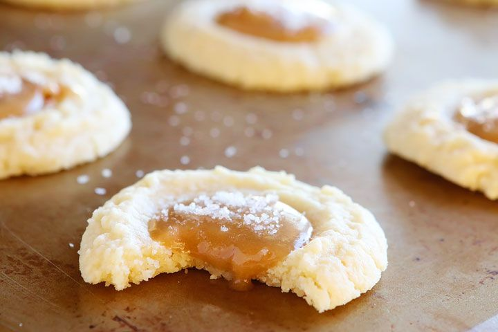 So excited to share these incredible cookies with you today! They are outrageously delicious. The vanilla butter cookie is decadently soft and buttery. It melts in your mouth! The luxurious pools of gooey salted caramel join in to send these Gooey Salted Caramel Vanilla Butter Cookies over the top!! They are super gorgeous and impressive …