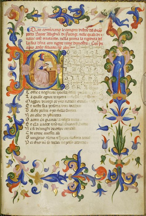 A late 14th-century illuminated manuscript of the poems of Dante and Petrarch, Rylands Latin MS 1.