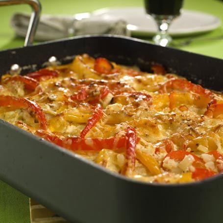 Kylling i langpanne med fløte og paprika - middag - mrw.no - Marit Røttingsnes Westlie