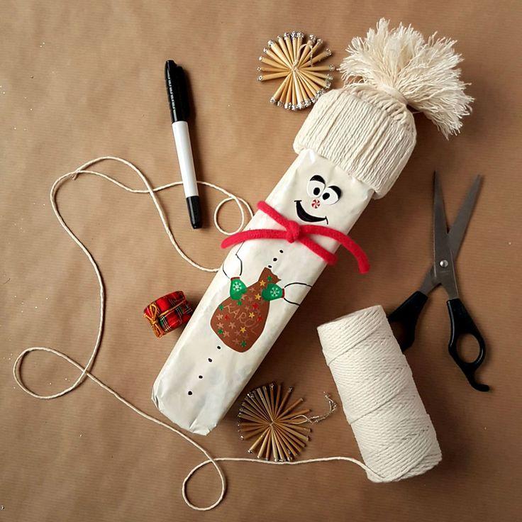 kreatywne pakowanie prezentów [creative gifts wrapping - snowman]