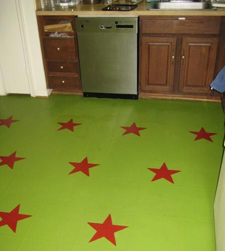 1000 images about ewwww ugly vinyl floor on for Painting over linoleum floors