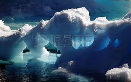 Antarktis-Eishöhlen Lizenzfreie Bilder