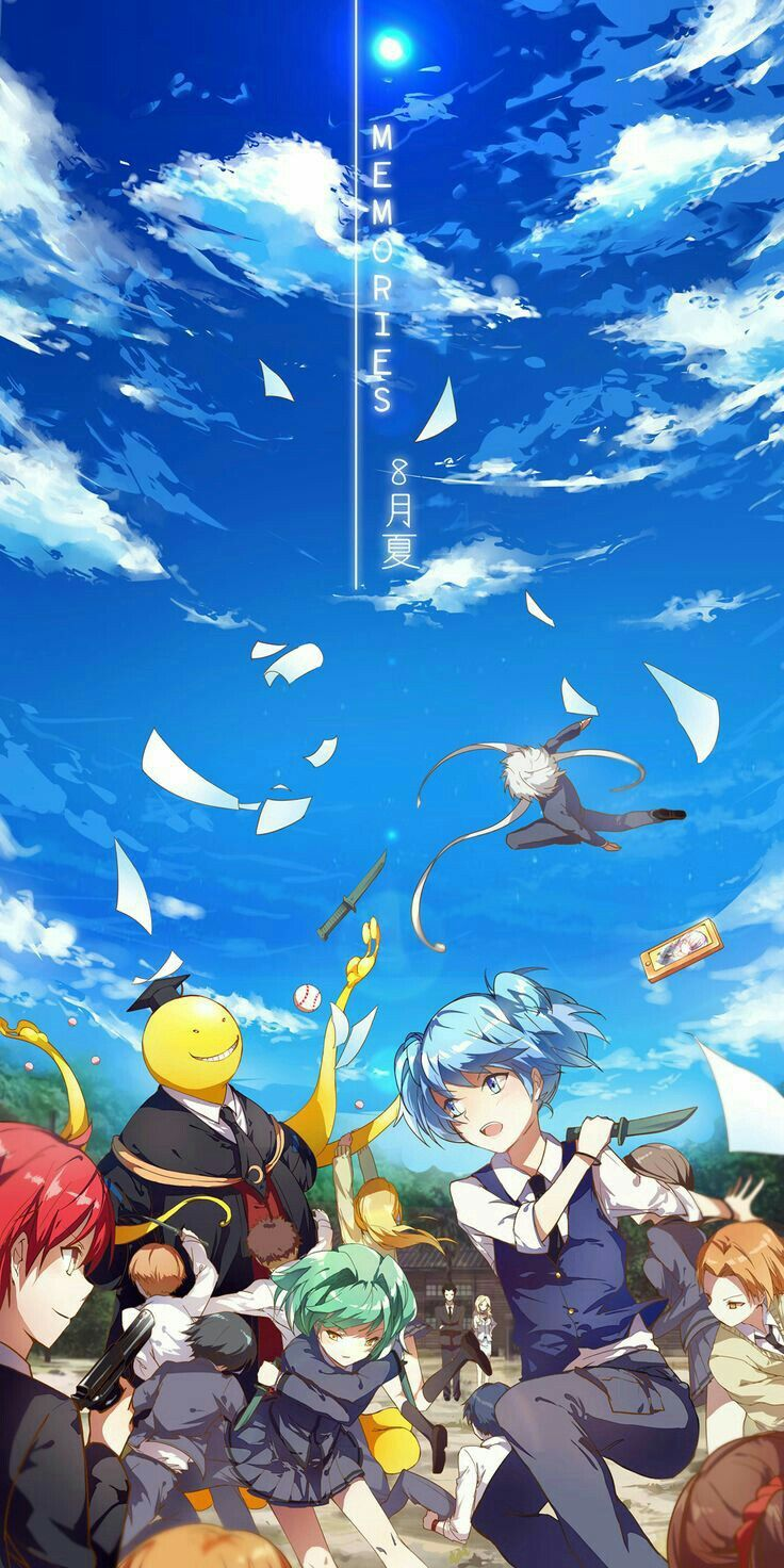 Memories, text, Assassination Classroom characters, Class E, End Class; Assassination Classroom