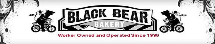 Welcome to Black Bear Bakery! | blackbearbakery.org: A worker-owned collective. All baked goods are made from scratch using local, organic ingredients whenever possible, and they grow many of the ingredients used in the café in a garden behind the bakery.