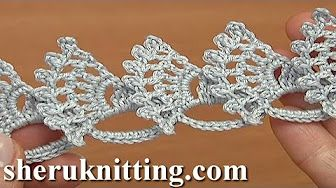 Crochet Lace Stitch Tape Tutorial 6 part 1 of 2 Crocheted Lace - YouTube