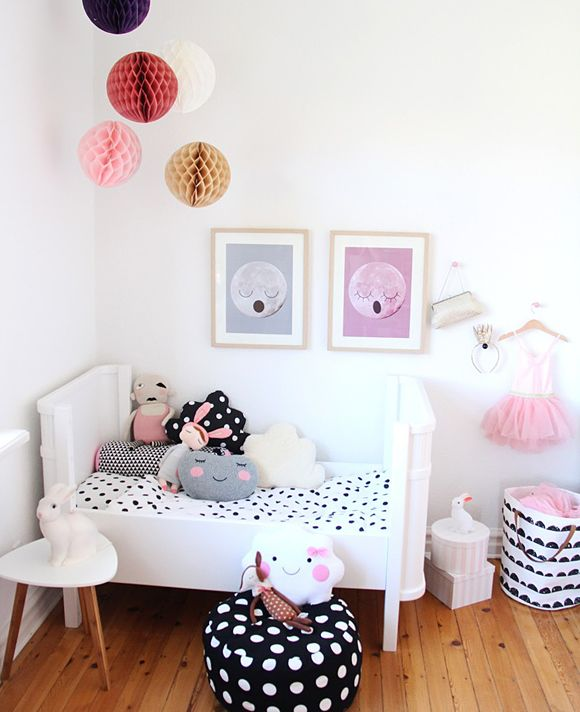 Toddler Girl Room - pink, gray