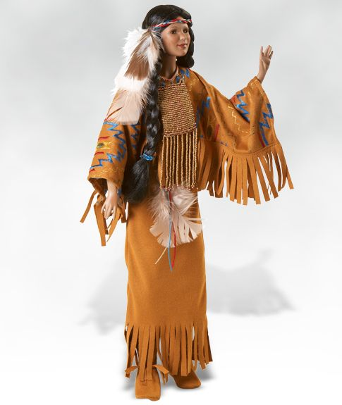 Image detail for -Raven Princess, Native American Style Doll in Porcelain | eBay