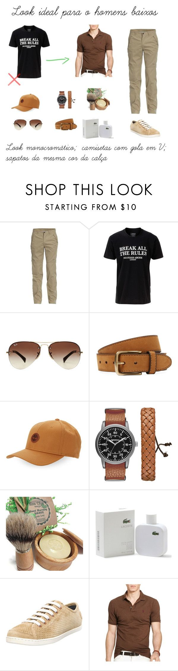 """""""Look ideal para o homem baixo"""" by andresa-maia on Polyvore featuring Jeep, No Fixed Abode, Ray-Ban, Bergè, Timberland, Arizona, Lacoste, Camper, Polo Ralph Lauren e men's fashion"""