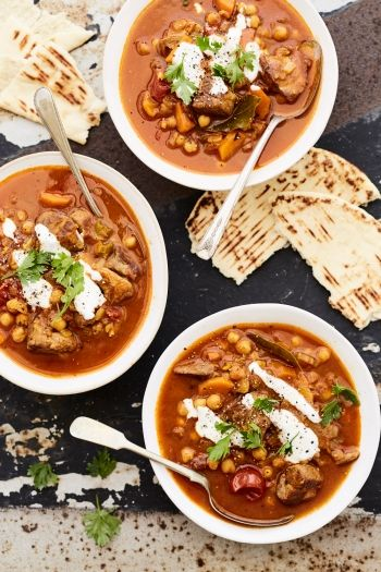 Moroccan Lamb And Chickpea Soup recipe.