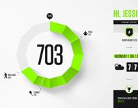Nike Fuel Design Exploration by Brantley Barefoot, via Behance
