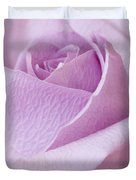 Delicate Lavender Rose Macro Duvet Cover by Sandra Foster