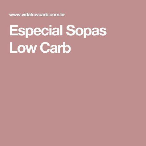 Especial Sopas Low Carb