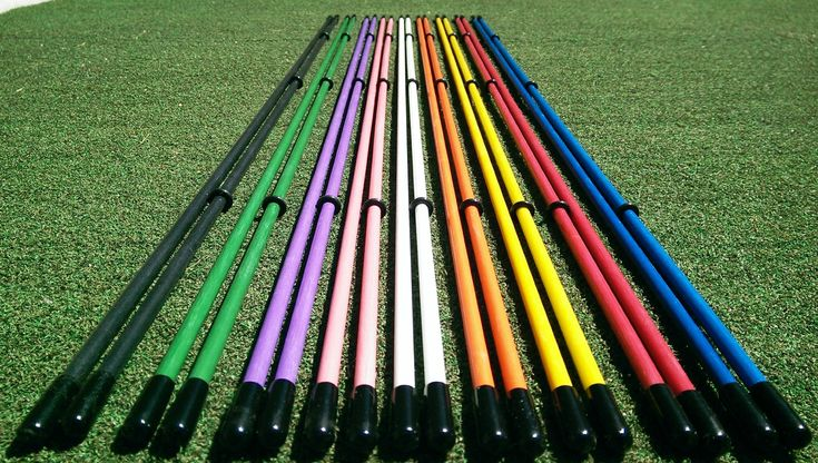 "Golfnsticks ""The Top Rated"" Golf Alignment Sticks / Amazing Team Color Options / Made in the USA! / Fast! SUMMER BLOWOUT! (Yellow). Golf Training Aid used by PGA Golf professionals and instructors. Golf Alignment Sticks are the #1 Training Aid Used By Pro's. Learn proper alignment with these Fiberglass Golf Alignment Rods, many drills found online, youtube, etc. Hit more greens and fairways with these golf alignment sticks. Improve your putting. Improve your scores. These are 40"" x 5/16""..."