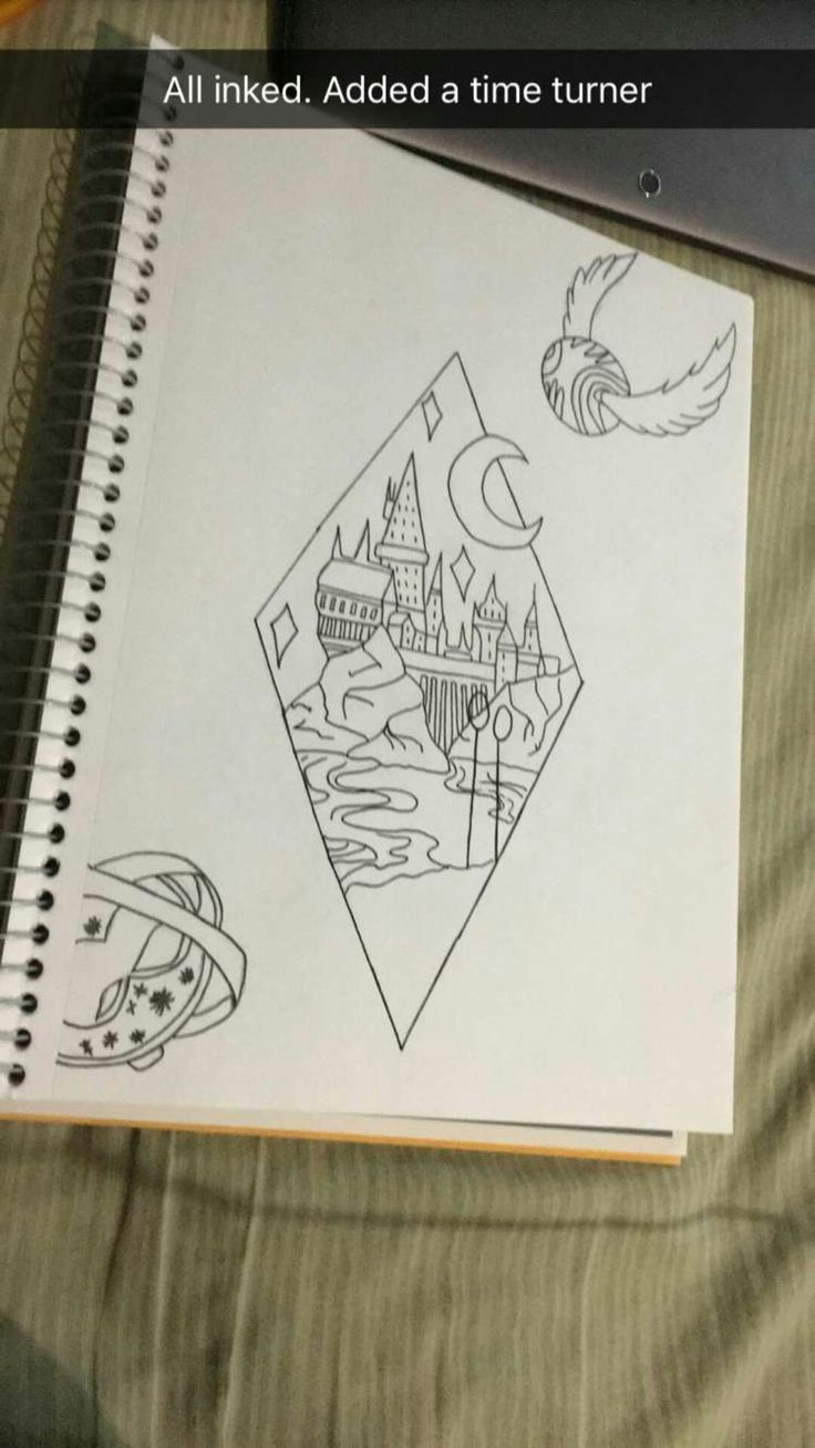 Harry Potter tattoo idea done by Nicole Burgess