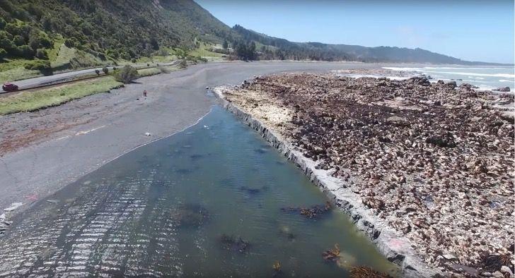 Tras el potente terremoto lo que era el fondo del mar ahora son muros de 6 metros en Nueva Zelanda