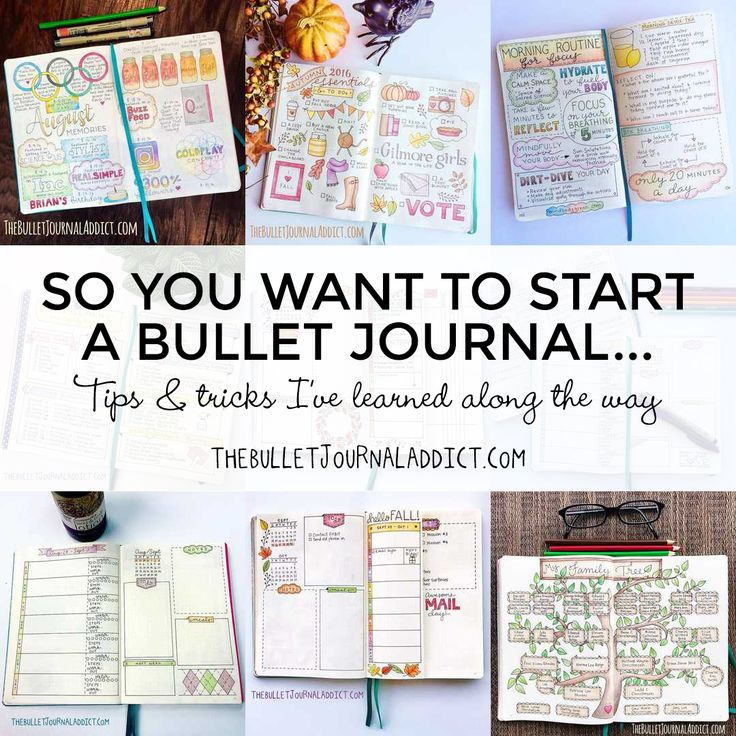 I get asked a lot about how to start a bullet journal.  People will say, 'I want to start a bullet journal but: I'm not creative I can't draw I don't have time to do all of …