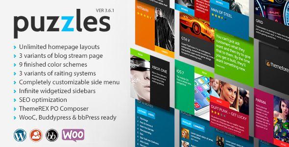 Puzzles WordPress Magazine/Review Theme Free Download