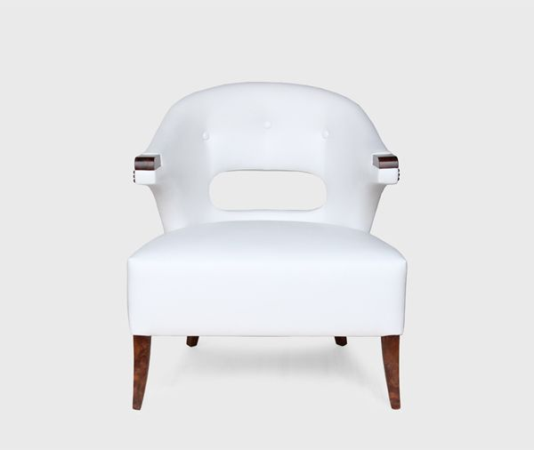 NANOOK ARMCHAIR - Contemporary Mid-Century | Contract Furniture | Hospitality Furniture #Upholsteredchairs #Velvetarmchair #modernchairs | Find more inspiration at: https://www.brabbu.com/en/upholstery/