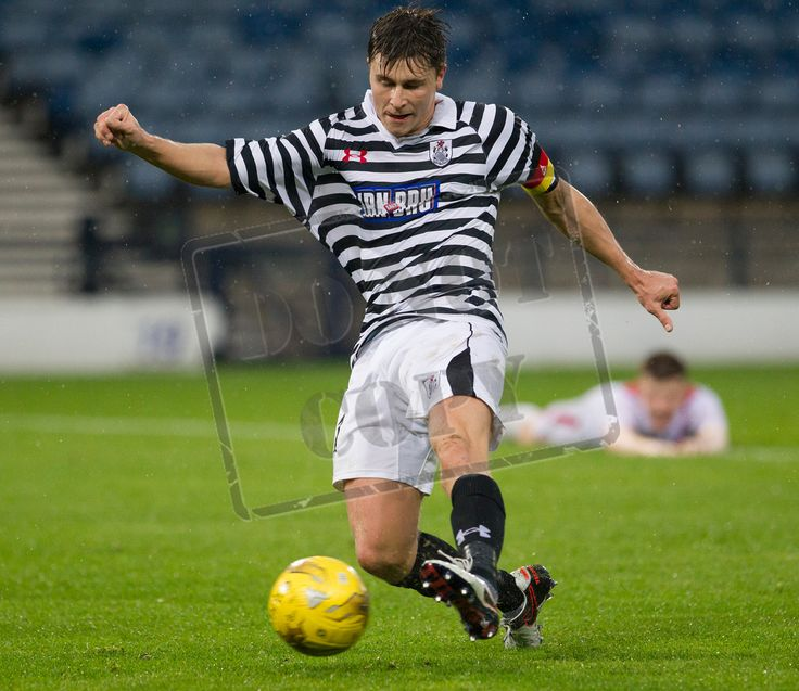 Queen's Park's Sean Burns scores during the Betfred Cup game between Queen's Park and Airdrieonians.