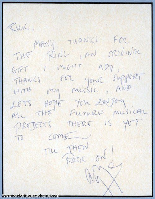 Auction Jimmy Page letter